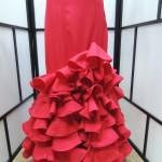 falda roja de flamenca